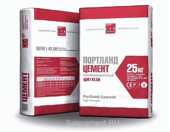 обозначению по ГОСТ на цементном мешке