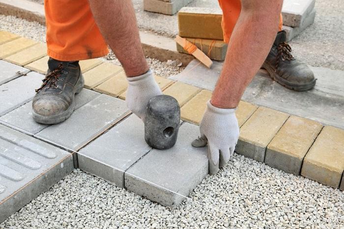 цемент на 1 квадратный метр брусчатки