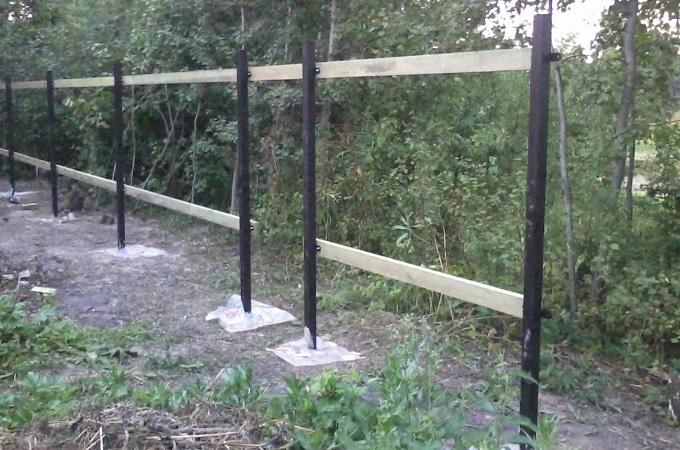опорно столбчатый фундамент под забор
