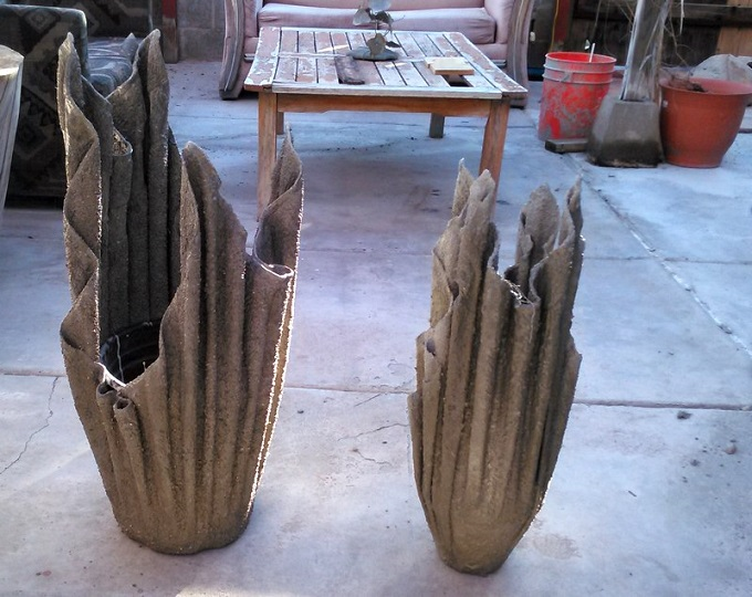 вазон из цемента