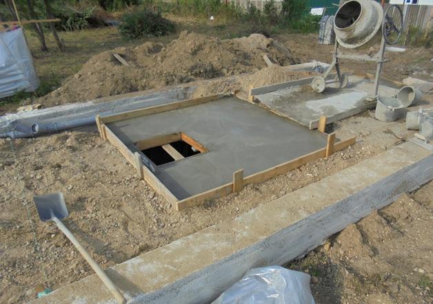 залить погреб бетоном