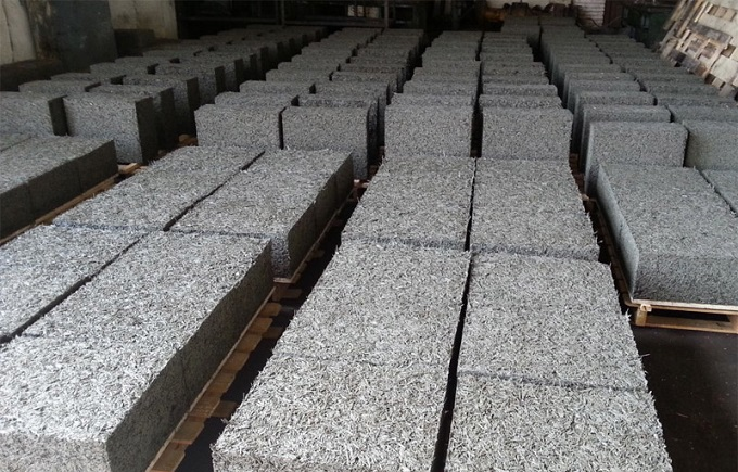 блоки из стружки и цемента