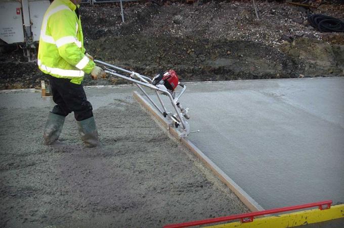 плавающая виброрейка для бетона