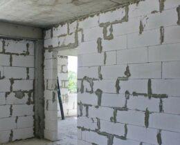 Как делаются стены из пенобетона?